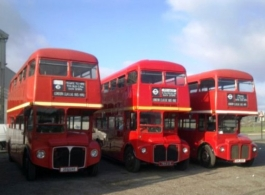 Red Routemaster Bus for weddings in Central London